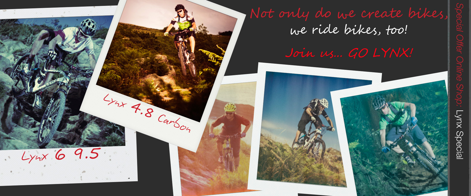 :  Not only do we create bikes, we ride bikes, too!