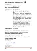EC Declaration of Conformity